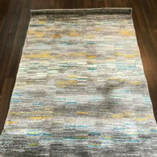 Rugs Aprox 6x4ft 120x160cm Woven Backed Sale Rugs woven Quality Grey-Teal-Yellow
